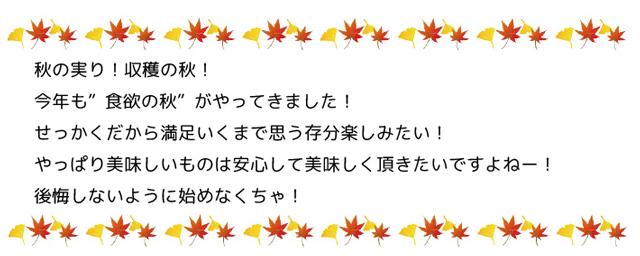 秋の実り!収穫の秋!